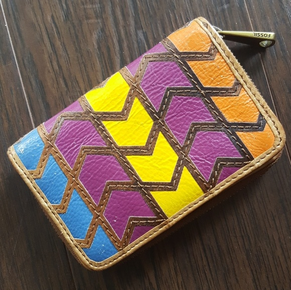 Fossil Handbags - Fossil Multicolored Leather wallet